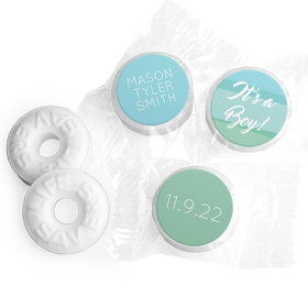 Bonnie Marcus Collection Personalized LIFE SAVERS Mints Watercolor Boy Birth Announcement