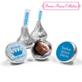 Bonnie Marcus Collection Personalized Hershey's Kisses Candy Polka Dots & Crown Birth Announcement (50 Pack)