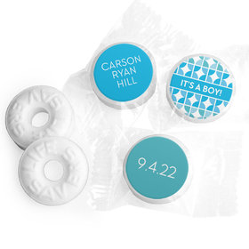 Bonnie Marcus Collection Personalized LIFE SAVERS Mints It's a Boy Hearts Birth Announcement