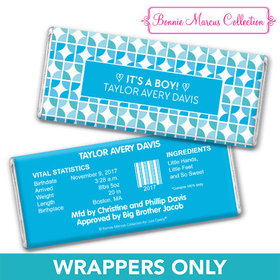 Bonnie Marcus Collection Personalized Wrapper It's a Boy Hearts Birth Announcement