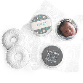 Bonnie Marcus Collection Personalized LIFE SAVERS Mints Star Boy Birth Announcement