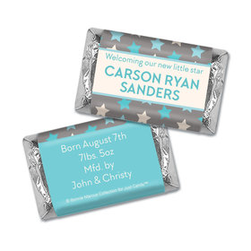 Bonnie Marcus Collection Personalized Hershey's Miniatures Wrappers Star Boy Birth Announcement