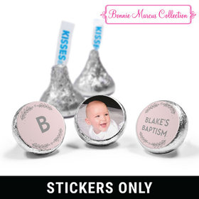 "Personalized Bonnie Marcus Baptism Filigree and Heart 3/4"" Stickers (108 Stickers)"