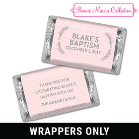 Personalized Bonnie Marcus Baptism Filigree and Heart Mini Wrappers Only