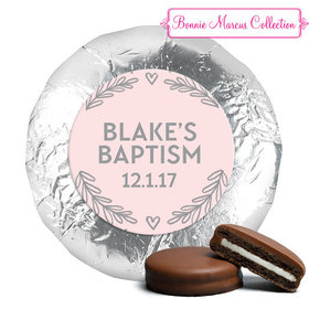 Personalized Bonnie Marcus Baptism Filigree and Heart Chocolate Covered Oreos (24 Pack)