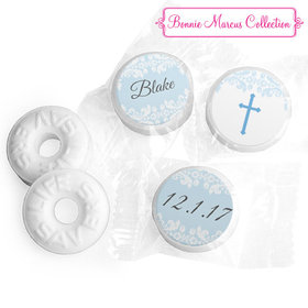 Personalized Bonnie Marcus Baptism Floral Filigree Life Savers Mints