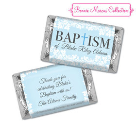 Personalized Bonnie Marcus Baptism Floral Filigree Hershey's Miniatures