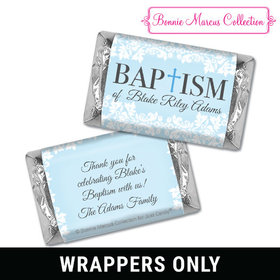 Personalized Bonnie Marcus Baptism Floral Filigree Mini Wrappers Only