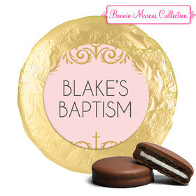 Personalized Bonnie Marcus Baptism Scroll Chocolate Covered Oreos (24 Pack)