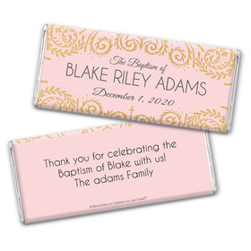 Personalized Bonnie Marcus Baptism Scroll Chocolate Bar Wrappers Only