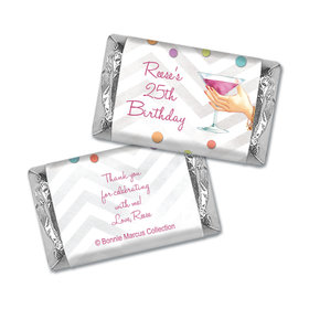 Bonnie Marcus Collection Personalized Mini Candy Bar Wrapper Birthday Here's to You