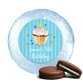 Bonnie Marcus Collection Birthday Cupcake Dazzle Milk Chocolate Covered Oreo Cookies Foil Wrapped (24 Pack)
