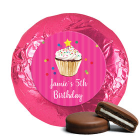 Bonnie Marcus Collection Birthday Cupcake Dazzle Milk Chocolate Covered Oreo Cookies Foil Wrapped