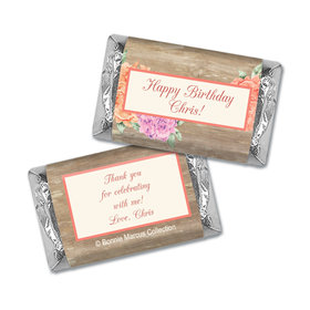 Bonnie Marcus Collection Personalized Mini Candy Bar Wrapper Blooming Joy Birthday Party Favor