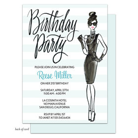 Bonnie Marcus Collection Personalized In Vogue Birthday Invitation