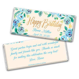 Bonnie Marcus Collection Personalized Chocolate Bar Wrappers Chocolate & Wrapper Here's Something Blue Birthday Favors