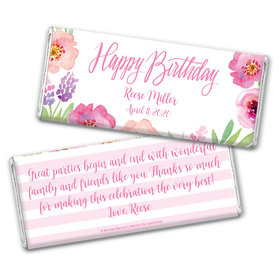 Bonnie Marcus Collection Personalized Chocolate Bar Wrappers Chocolate & Wrapper Floral Embrace Birthday Favors