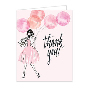 Bonnie Marcus Collection Whimsical Watercolor Balloons Birthday Thank You