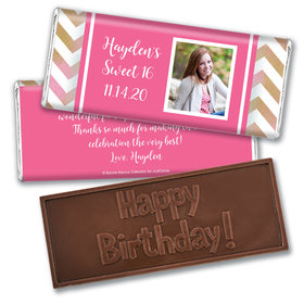 Bonnie Marcus Collection Personalized Embossed Chocolate Bar Birthday Wrappers Picture Your Birthday