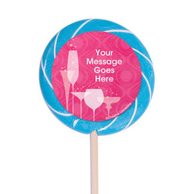 "Born to be Fabulous Personalized 3"" Lollipops (12 Pack)"