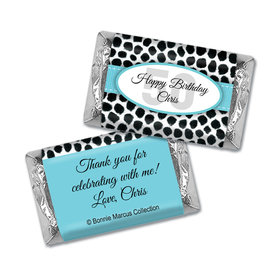 Bonnie Marcus Personalized Adult Birthday Mini Candy Bar Wrappers