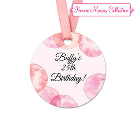 Personalized Round Blithe Spirit Birthday Favor Gift Tags (20 Pack)
