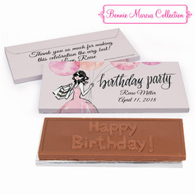 Deluxe Personalized Blithe Spirit Birthday Chocolate Bar in Gift Box