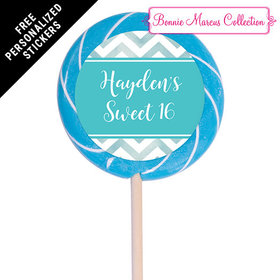"""Bonnie Marcus Collection Personalized 3"""" Swirly Pop - Picture Your Birthday (12 Pack)"""