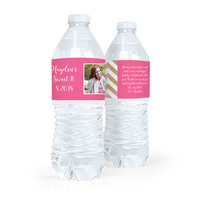 Personalized Sweet 16 Birthday Picture Water Bottle Sticker Labels (5 Labels)