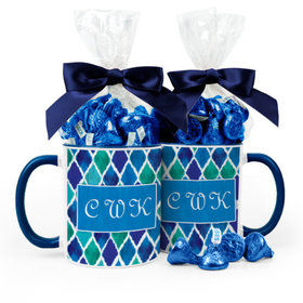 Personalized Birthday Diamond Pattern 11oz Mug with Hershey's Kisses