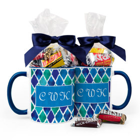 Personalized Birthday Diamond Pattern 11oz Mug with Hershey's Miniatures