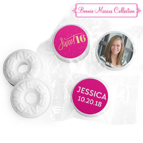 Personalized Bonnie Marcus Sweet 16 Pink & Gold Life Savers Mints