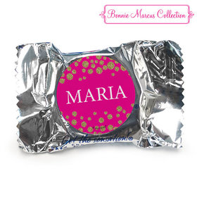 Personalized Bonnie Marcus Quinceanera Gold Sparkle York Peppermint Patties