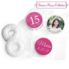 Personalized Bonnie Marcus Quinceanera Pink Sparkle Life Savers Mints