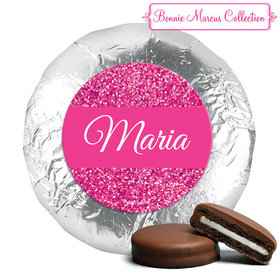 Personalized Bonnie Marcus Quinceanera Pink Sparkle Chocolate Covered Oreos (24 Pack)