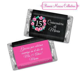 Personalized Bonnie Marcus Quinceanera Wreath Hershey's Miniatures