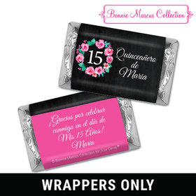 Personalized Bonnie Marcus Quinceanera Wreath Mini Wrappers Only