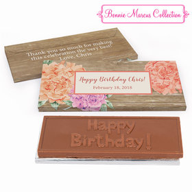 Deluxe Personalized Birthday Blooming Joy Chocolate Bar in Gift Box