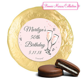 Personalized Birthday Bubbly Party Pink York Peppermint Patties (24 Pack)