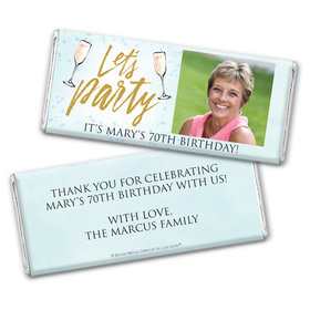 Personalized Bonnie Marcus Birthday Champagne Party Chocolate Bar & Wrapper