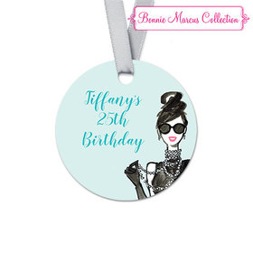 Personalized Round In Vogue Birthday Favor Gift Tags (20 Pack)