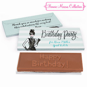 Deluxe Personalized Champagne Bottle Birthday Chocolate Bar in Gift Box