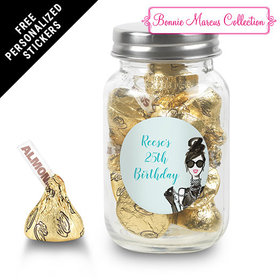 Bonnie Marcus Collection Personalized Mason Jar Vogue Birthday (24 Pack)