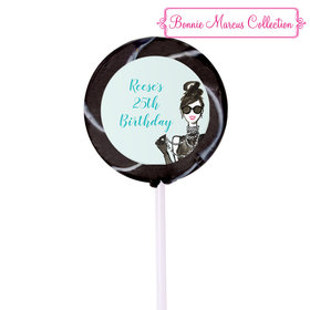 Bonnie Marcus Collection Personalized Small Swirly Pop Vogue Birthday (24 Pack)