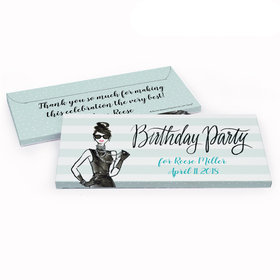 Deluxe Personalized Birthday Champagne Bottle Hershey's Chocolate Bar in Gift Box