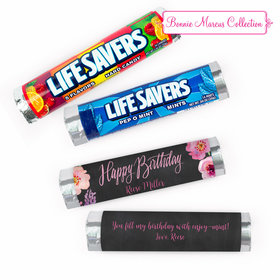 Personalized Birthday Floral Embrace Lifesavers Rolls (20 Rolls)