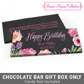 Deluxe Personalized Floral Embrace Birthday Candy Bar Cover