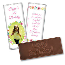 Personalized Bonnie Marcus Birthday Blossom Photo Embossed Chocolate Bars