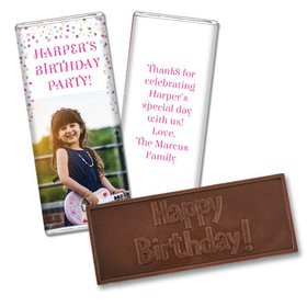 Personalized Bonnie Marcus Birthday Sprinkling Confetti Photo Embossed Chocolate Bars