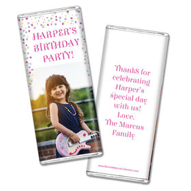 Personalized Bonnie Marcus Birthday Sprinkling Confetti Photo Chocolate Bar Wrappers